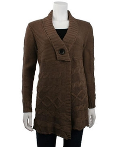 Shawl Collar Cable Knit Cardigan by Monoreno in Suits