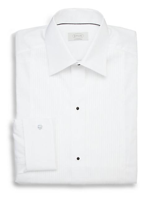 Contemporary-Fit Pleated Bib Formal Dress Shirt by Eton of Sweden in The Purge: Anarchy