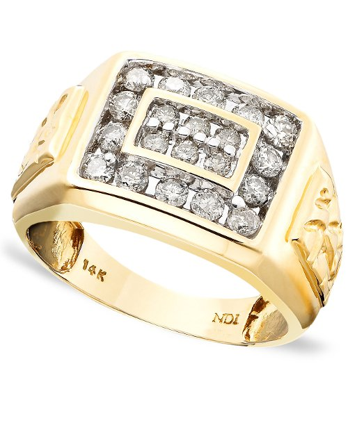 Men's 14k Gold Ring, Diamond by R.H. Macy & Co. Fine Jewelry in Anchorman 2: The Legend Continues