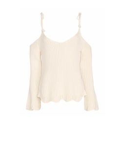 Chase Tie Strap Cold Shoulder Knit Top by Intermix  in The Bachelorette