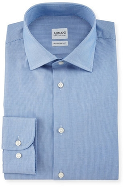 Modern Fit Micro Rope-Print Dress Shirt by Armani Collezioni in Why Him?