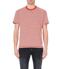 Striped Cotton T-Shirt by Paul Smith Jeans in Black-ish