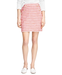 Cotton Slim Skirt by Brooks Brothers in Scream Queens