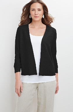 Linen-Blend Open Cardigan by J.Jill in Max