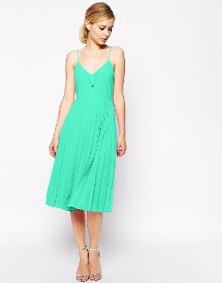 Cami Pleated Midi Dress by Asos in Need for Speed