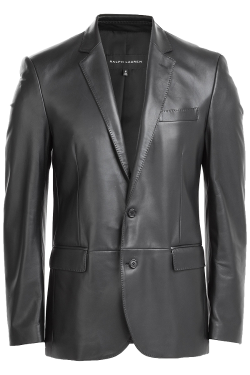 Leather Blazer by Ralph Lauren Black Label in Entourage