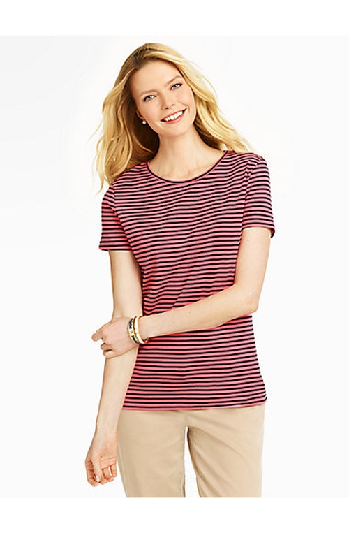 Pima Cotton Striped Tee by Talbots in Pretty Little Liars
