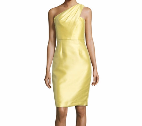 One-Shoulder Jacquard Sheath Dress by ML Monique Lhuillier in Mission: Impossible - Rogue Nation