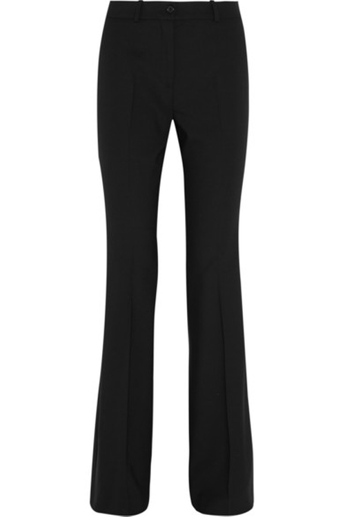 Stretch-Wool Crepe Flared Pants by Michael Kors Collection in Empire