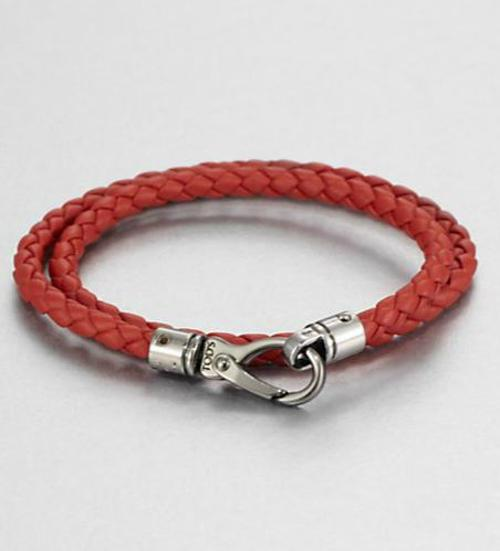 Leather Double-Wrap Bracelet by Tod's in Savages