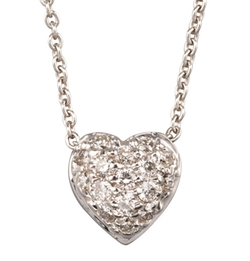 Pave Heart Necklace by Roberto Coin in The Bachelor