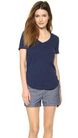 V Neck Tee by ATM Anthony Thomas Melillo in Laggies