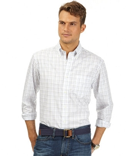 Core Plaid Anchor Wrinkle-Resistant Shirt by Nautica in McFarland, USA