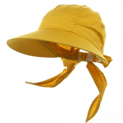 Solid Large Peak Hats-Yellow by e4Hats in Pitch Perfect 2