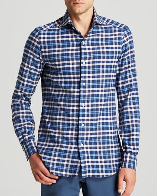 Custom-Fit Plaid Sport Shirt by Polo Ralph Lauren in No Strings Attached
