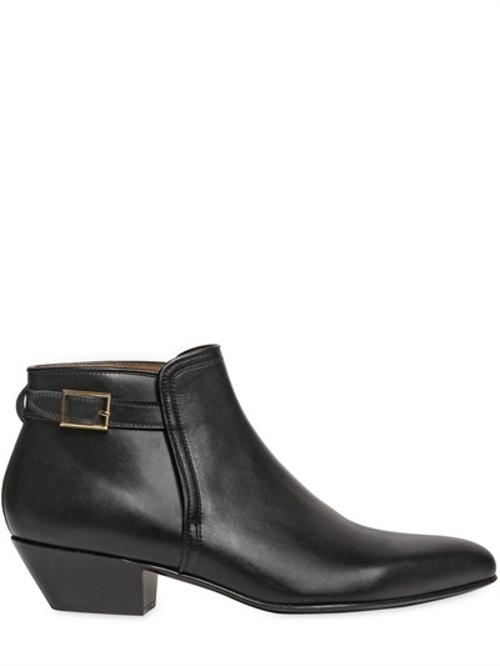Smooth Leather Ankle Boots by Louis Leeman in Contraband