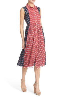 'Nieves' Floral Print Silk Shirtdress by Diane von Furstenberg in Speechless