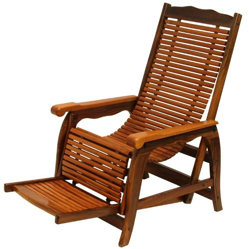 Beautiful Brazilian Rosewood Reclining Slatted Lounge Chair by Thomas Hayes Gallery in Savages