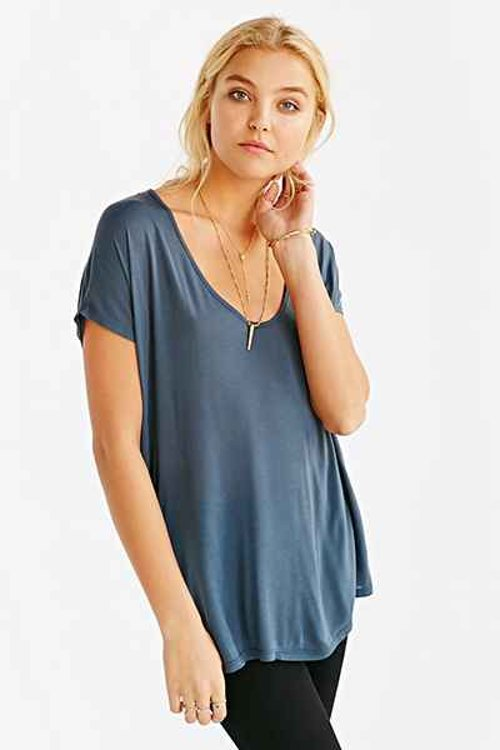 Project Social T Sheer Super-Scoop T-Shirt by Urban Outfitters in The Other Woman