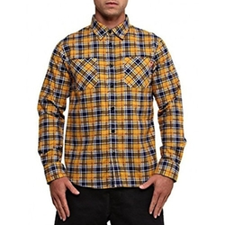 Billy Plaid Flannel Shirt by Stussy in Black-ish