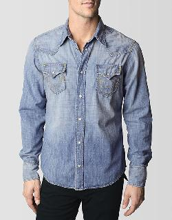 "JAKE ""ORIGINALS"" WESTERN MENS DENIM SHIRT by True Religion in Transcendence"