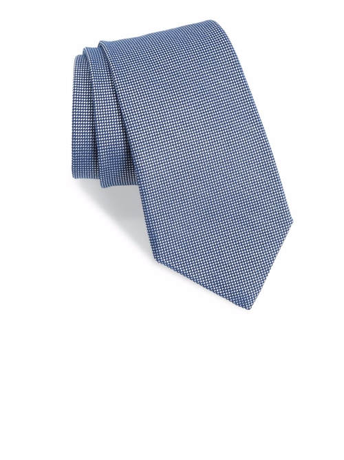 Textured Cotton & Silk Blend Tie by Gitman in House of Cards - Season 4 Episode 2