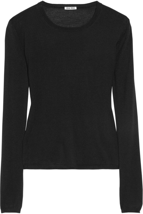 Cashmere And Silk-Blend Sweater by Miu Miu in Keeping Up With The Kardashians