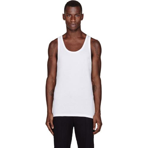 White Body Relaunch Tank Top Three-Pack by Calvin Klein in Lucy
