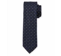 Neat Box-Pattern Silk Tie by Boss in Billions