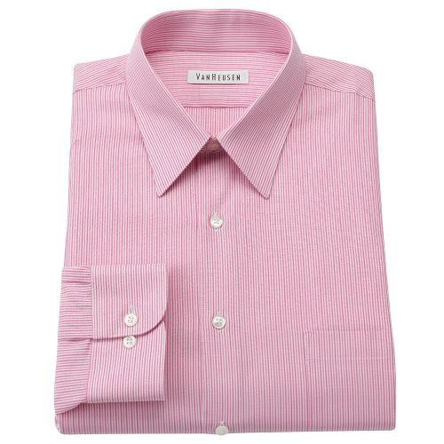 Regular-Fit Striped Wrinkle-Free Point-Collar Dress Shirt by Van Heusen in Transcendence
