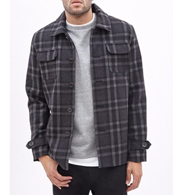 Plaid Workwear Shirt Jacket by 21Men in Silicon Valley