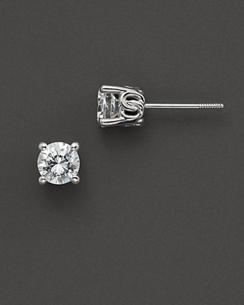 Diamond Stud Earrings by Bloomingdales in Blackhat