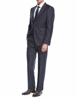 Pinstripe Wool Two-Piece Suit by Boss in Designated Survivor