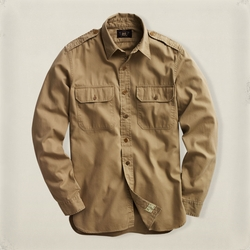 Twill Military Shirt by Ralph Lauren in The Flash