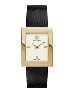 Buddy Classic Leather-Strap Watch by Tory Burch in Suits