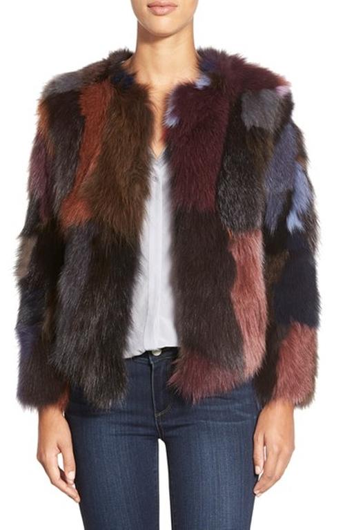 Multicolor Genuine Fox Fur Jacket by Belle Fare in Scream Queens - Season 1 Episode 10