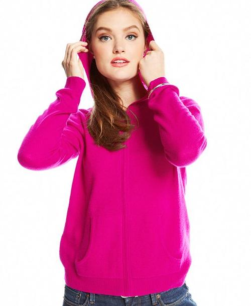 Petite Zip-Up Cashmere Hoodie by Charter Club in The Other Woman