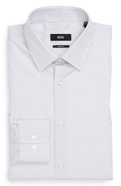 Marlow Sharp Fit Dress Shirt by Boss Hugo Boss in (500) Days of Summer