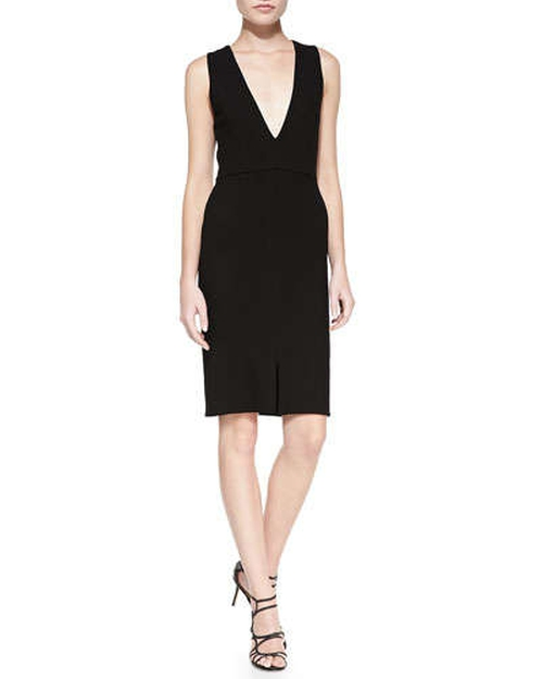 Tany V-Neck Fitted Dress by Alice + Olivia in A Good Day to Die Hard