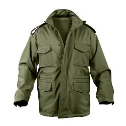 Soft Shell Tactical M-65 Olive Drab Jacket by Rothco in Shutter Island