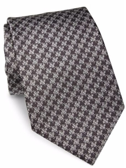 Textured Silk Tie by Giorgio Armani  in Suits
