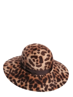Leopard Rabbit Fur Melusine Felt Hat by Borsalino in By the Sea