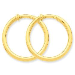 Round Hoop Earrings by GemAffair in Savages