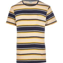 Navy Jack & Jones Vintage Zig Zag T-shirt by River Island in Neighbors