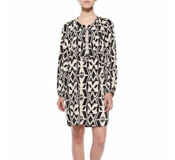 Tribal-Print Shift Shirtdress by T Bags  in The Good Wife