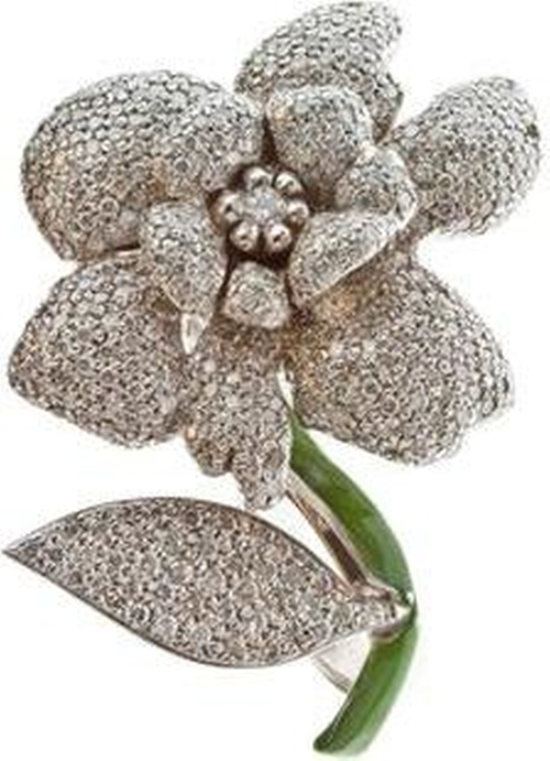 Diamond Flower Ring by Ramona M. Boucher Of Bastion in Sex and the City