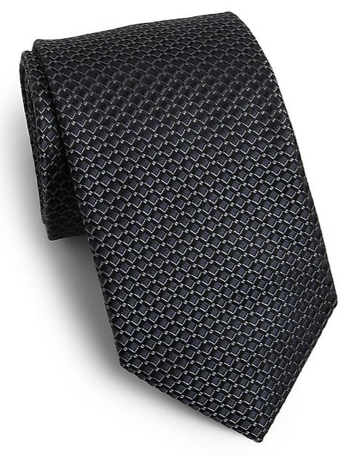 Diamond Print Silk Tie by Saks Fifth Avenue Collection in We Are Your Friends