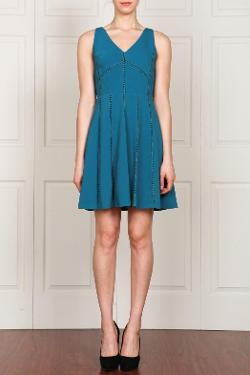 V-Neck Sleeveless Dress by AarynK in Laggies