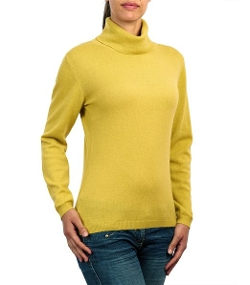 Slinky Turtleneck Sweater by Wool Overs in The Visit
