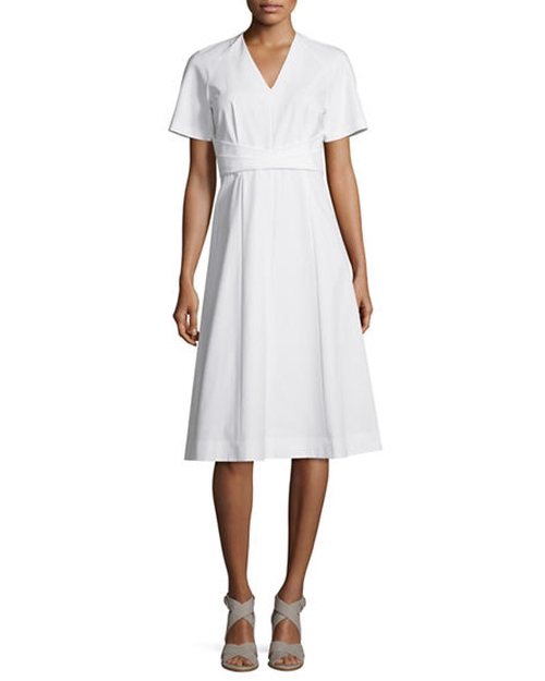Kaylee Short-Sleeve A-Line Dress by Lafayette 148 New York in The Divergent Series: Allegiant